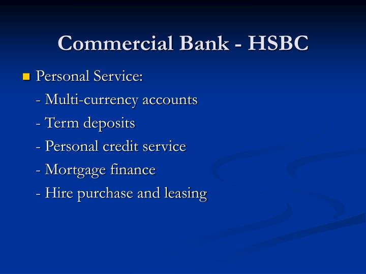 Commercial bank hsbc