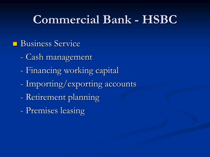 Commercial Bank - HSBC