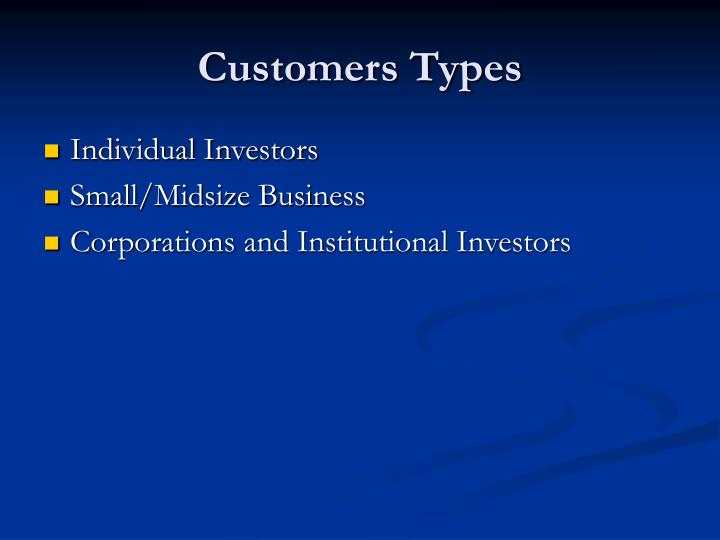 Customers Types