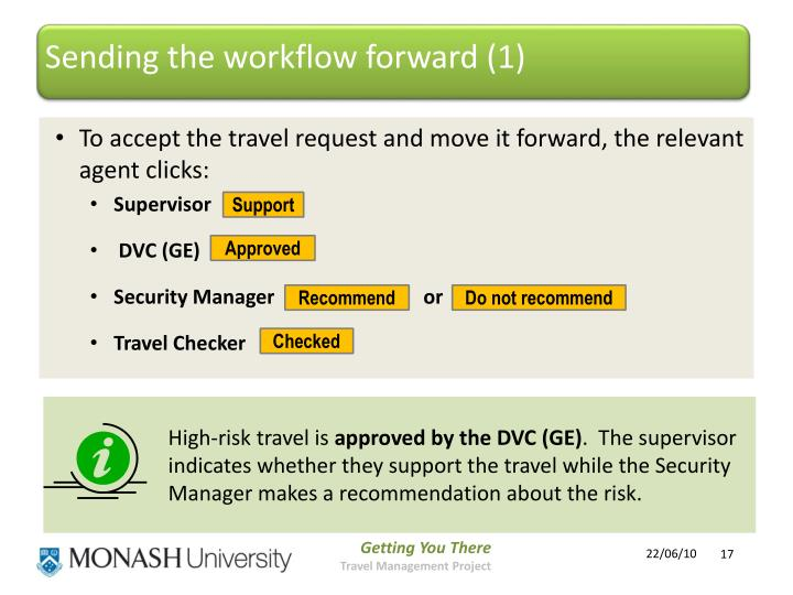 Sending the workflow forward (1)