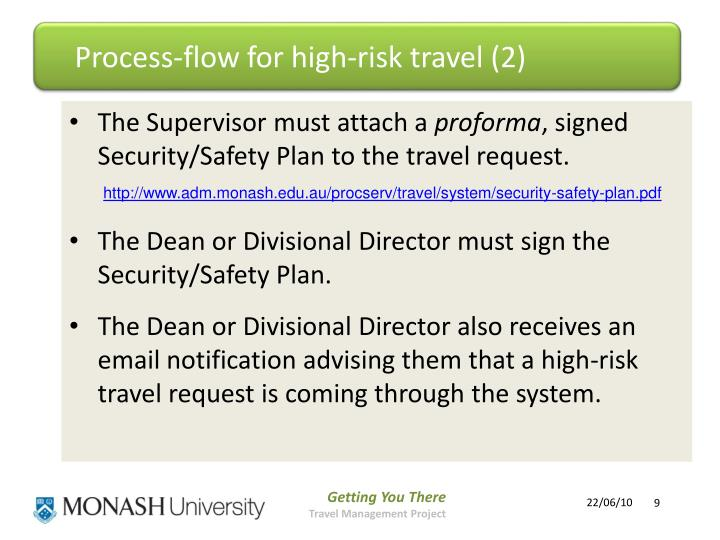 Process-flow for high-risk travel (2)