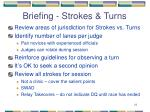 briefing strokes turns