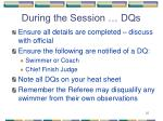 during the session dqs