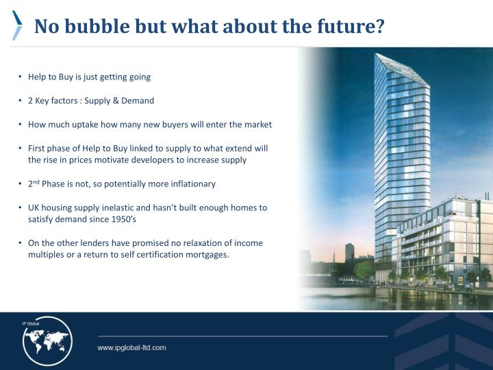 No bubble but what about the future?