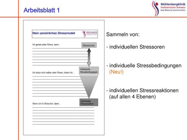 Fein Stress Management Arbeitsblatt Ideen - Arbeitsblätter für ...