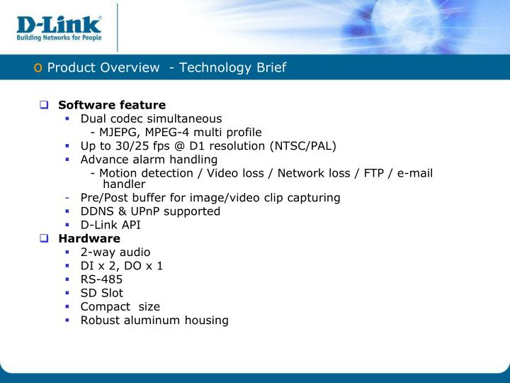 Product Overview  - Technology Brief