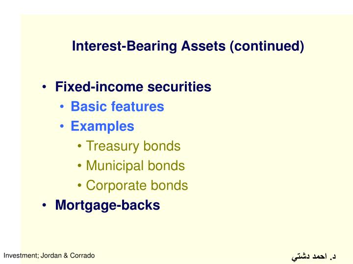 Interest-Bearing Assets (continued)