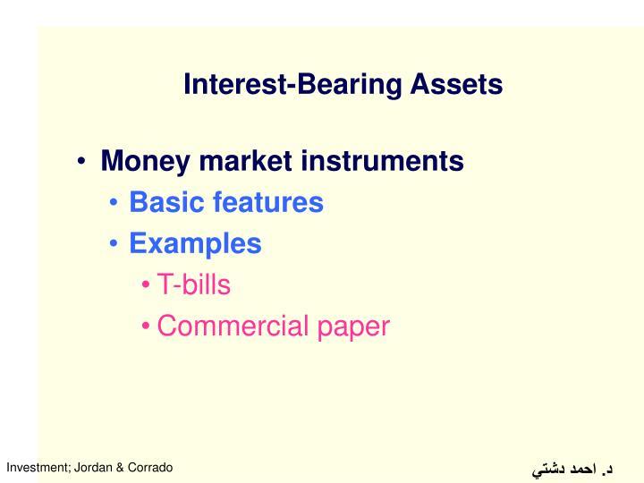 Interest bearing assets