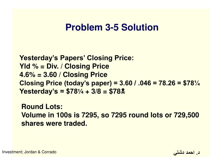 Problem 3-5 Solution