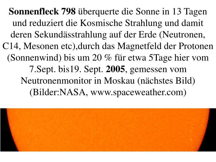 Sonnenfleck 798