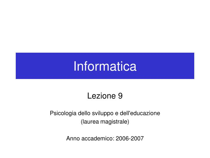 informatica n.
