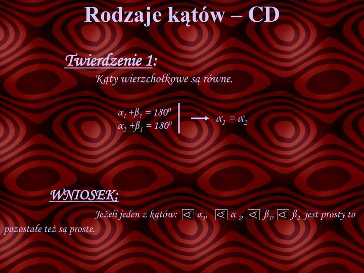 Rodzaje kątów – CD