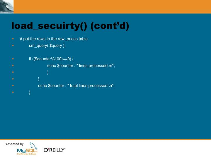 load_secuirty() (cont'd)