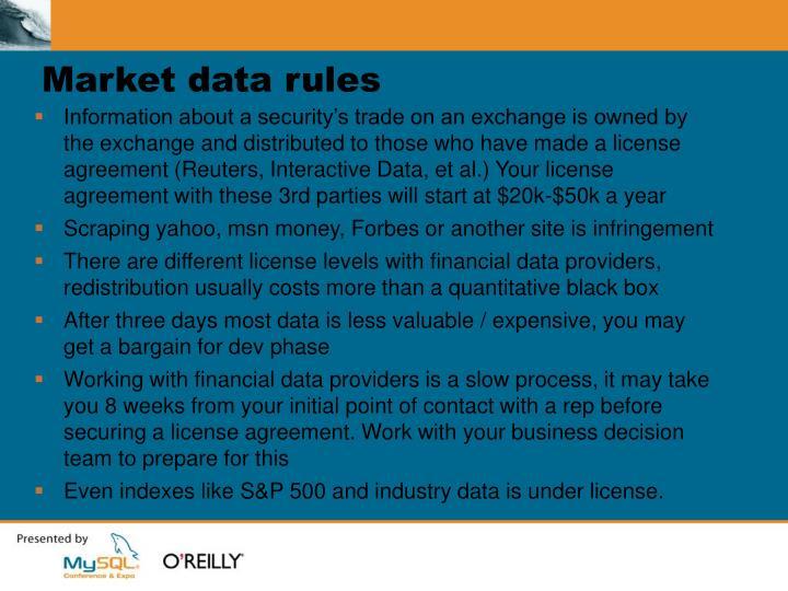 Market data rules