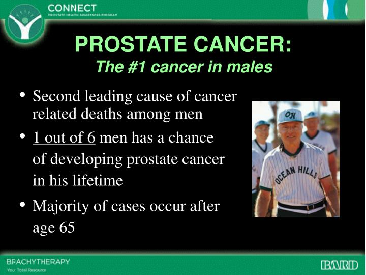 Prostate cancer the 1 cancer in males