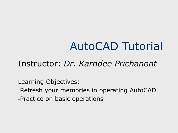 autocad tutorial n.