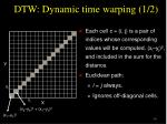 dtw dynamic time warping 1 2