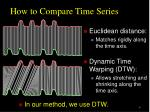 how to compare time series