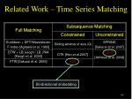 related work time series matching