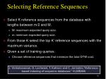 selecting reference sequences