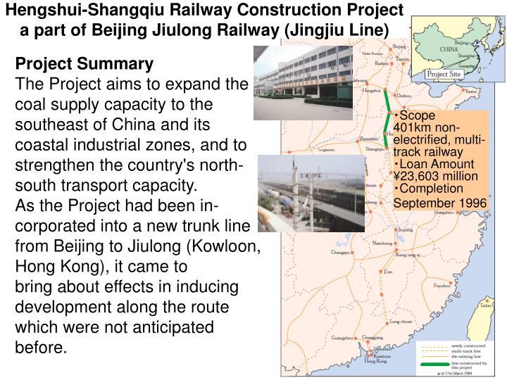 Hengshui-Shangqiu Railway Construction Project