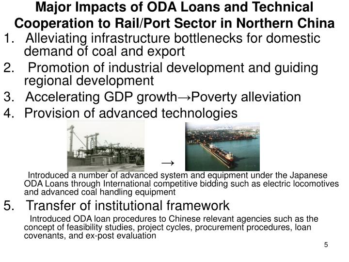 Major Impacts of ODA Loans and Technical Cooperation to Rail/Port Sector in Northern China