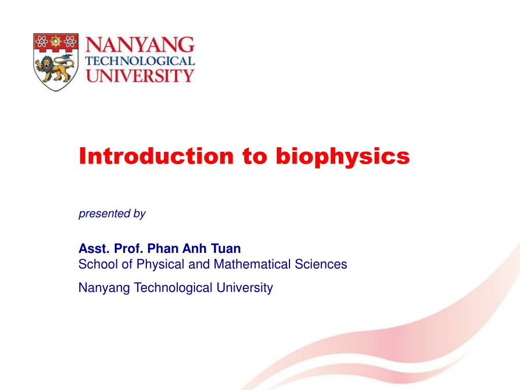 Ppt Introduction To Biophysics Powerpoint Presentation Id3417993 Oxygen Molecule Diagram Chemguide Covalent Bonds Compounds