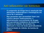 anti inflamat rios n o hormonais