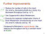 further improvements