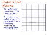 hardware fault tolerance
