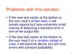 problems with this solution