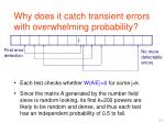 why does it catch transient errors with overwhelming probability1