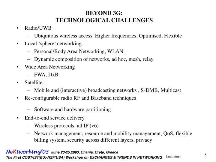 BEYOND 3G: