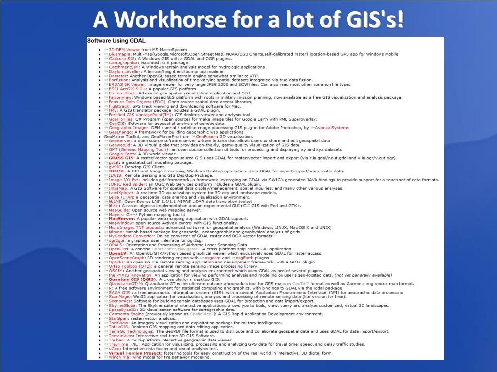 PPT - GDAL/OGR PowerPoint Presentation - ID:3418363