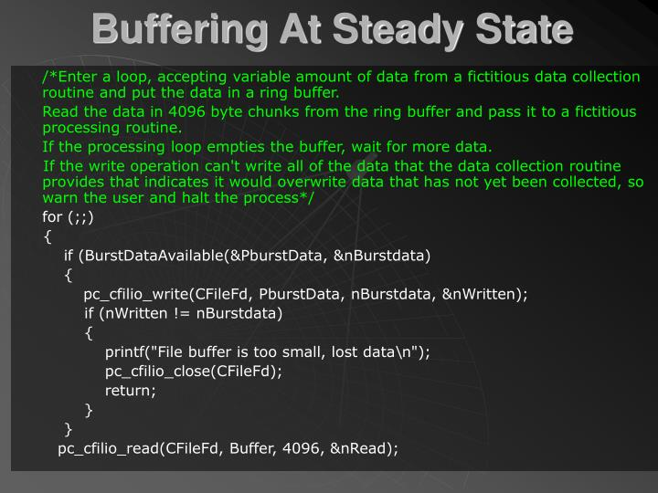 Buffering At Steady State