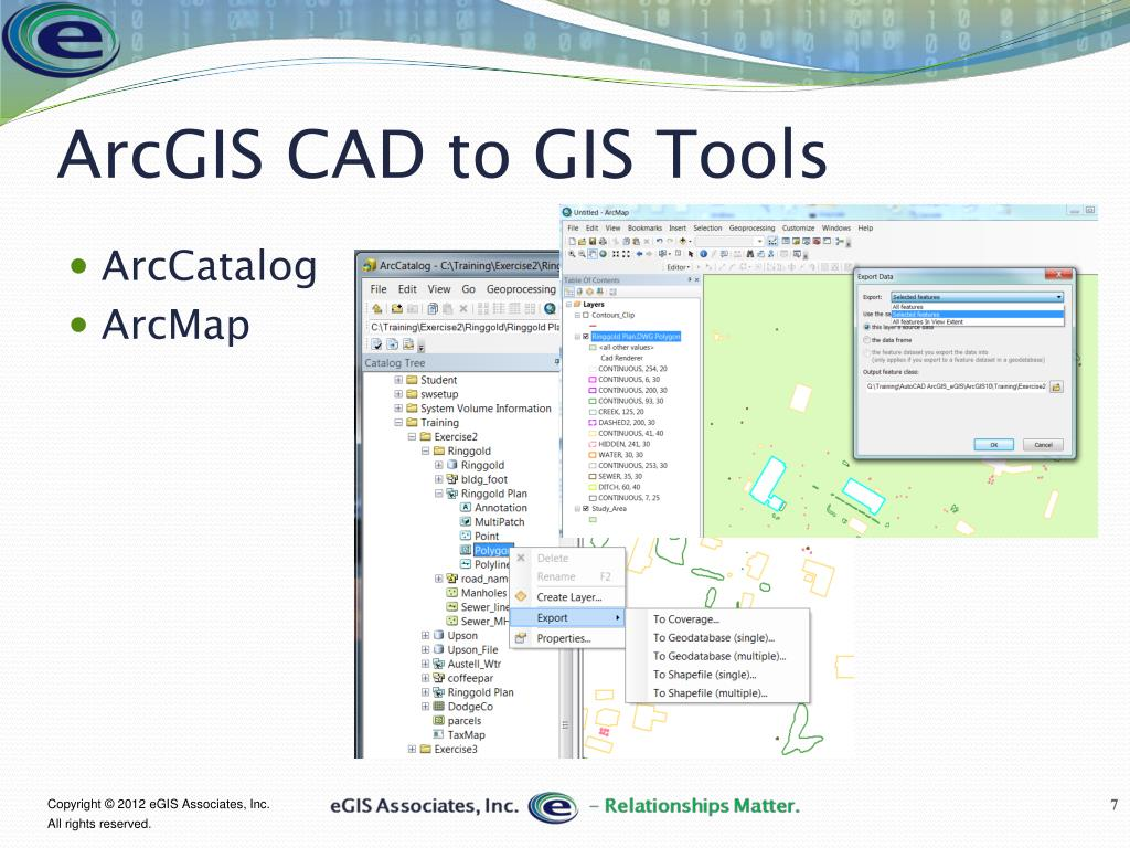 PPT - Tips for using and import CAD Data in ArcGIS