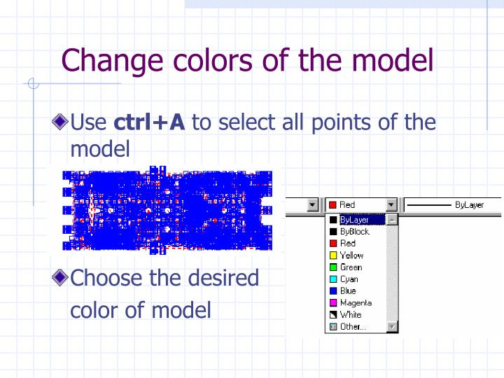 Change colors of the model