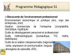 programme p dagogique s1
