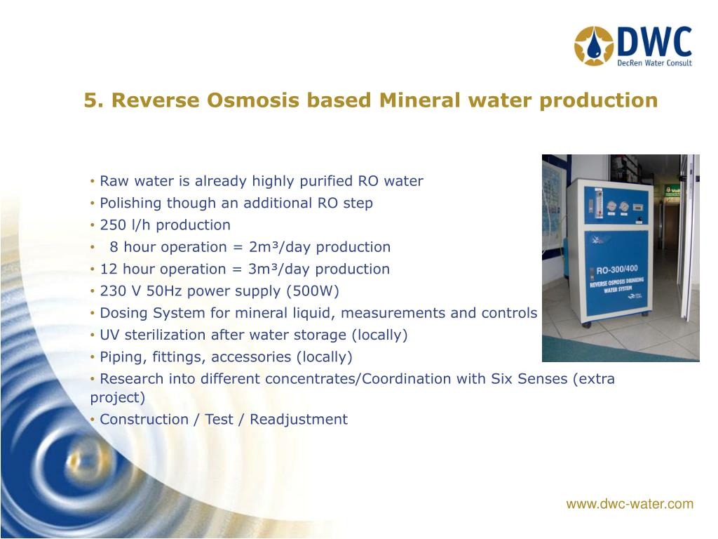 PPT - Drinking Water management for Soneva Gili PowerPoint
