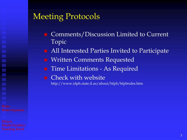 Meeting protocols