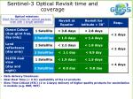 sentinel 3 optical revisit time and coverage