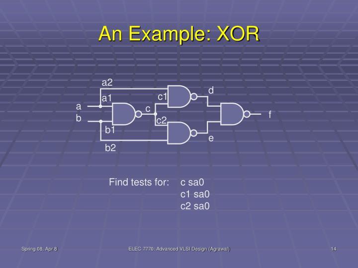 An Example: XOR