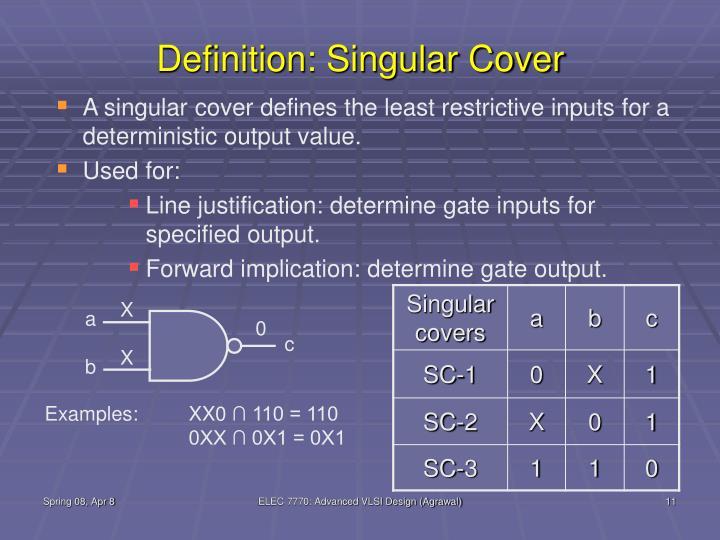 Definition: Singular Cover