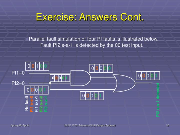 Exercise: Answers Cont.