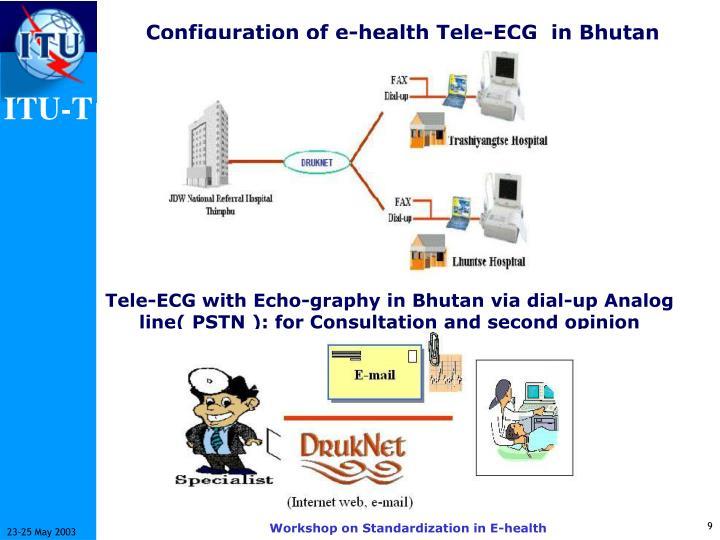 Configuration of e-health Tele-ECG  in Bhutan