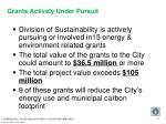 grants actively under pursuit