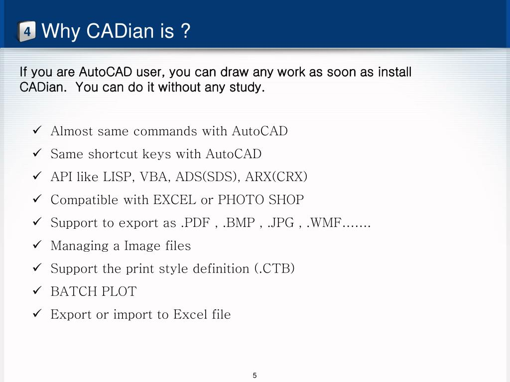 PPT - CADian replacing AutoCAD PowerPoint Presentation - ID