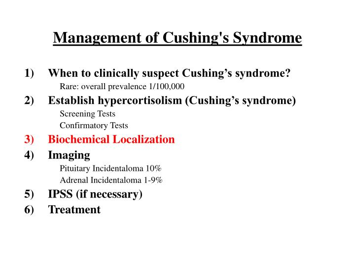 Management of Cushing's Syndrome