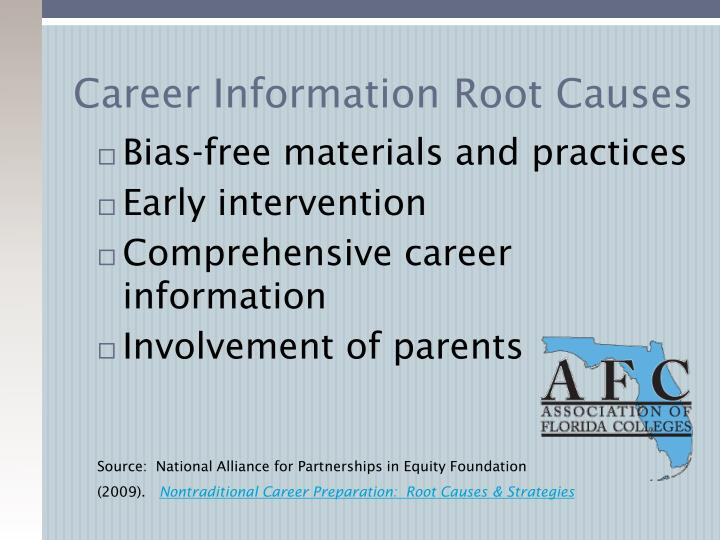 Career Information Root Causes