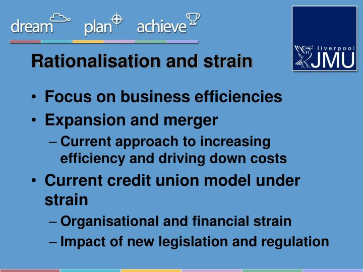 Rationalisation and strain